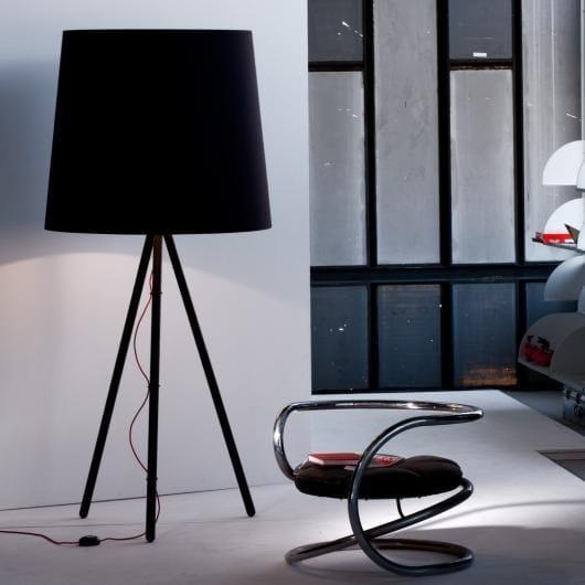Design halogen fabric floor lamp