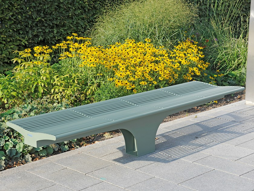 Backless stainless steel Bench SIARDO S 20 R | Backless Bench by BENKERT BÄNKE