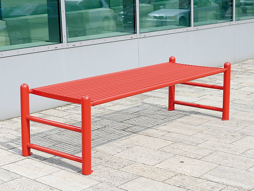 Backless stainless steel Bench SIARDO 130 R | Backless Bench by BENKERT BÄNKE