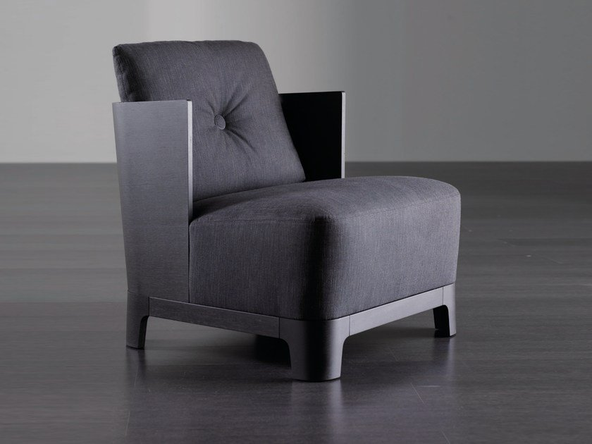 Upholstered armchair KEETON WOOD by Meridiani