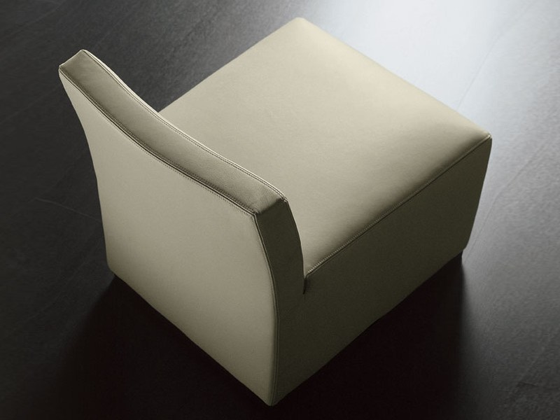 Upholstered armchair with removable cover LOPEZ | Armchair by Meridiani