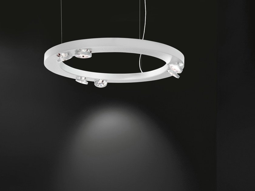 Direct-indirect light pendant lamp CIRCULAR | Pendant lamp by Martinelli Luce