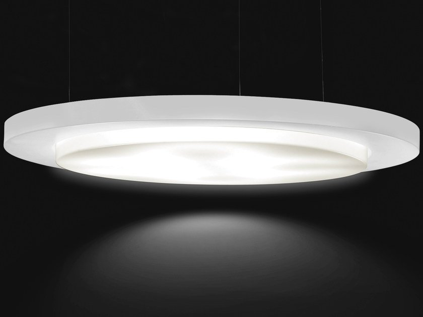 Design direct-indirect light aluminium pendant lamp