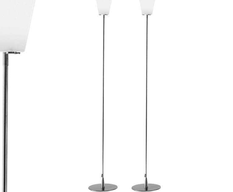 Design halogen blown glass floor lamp