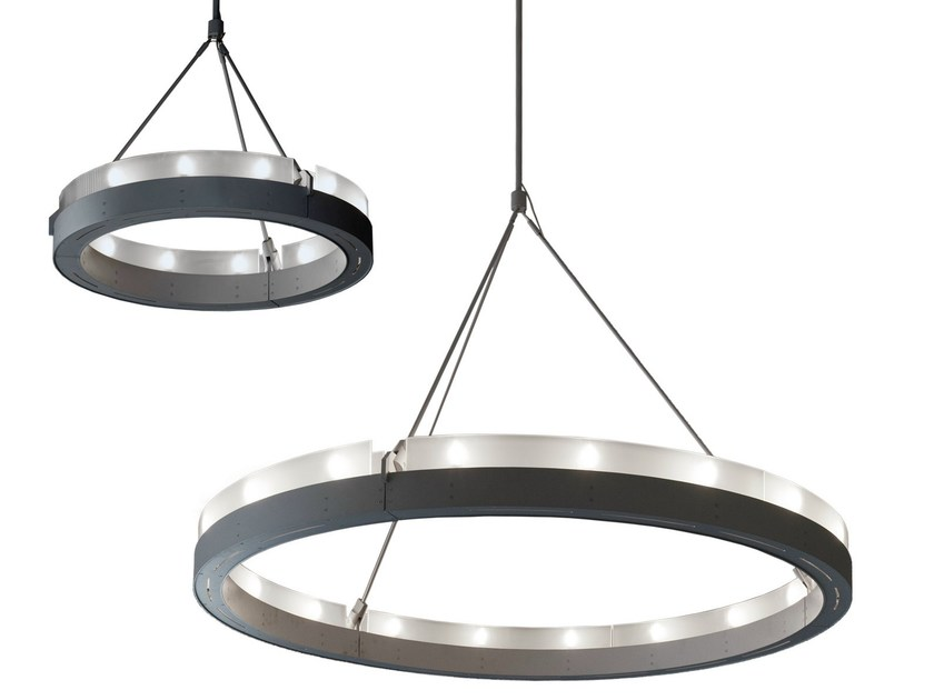 Satin glass pendant lamp CIRCULAR GLASS - Martinelli Luce