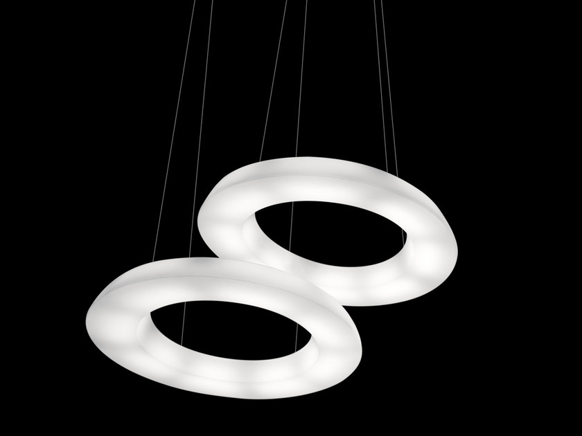 Fluorescent polyethylene pendant lamp