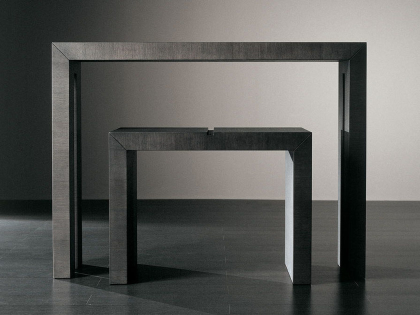 Rectangular wooden console table HURT by Meridiani