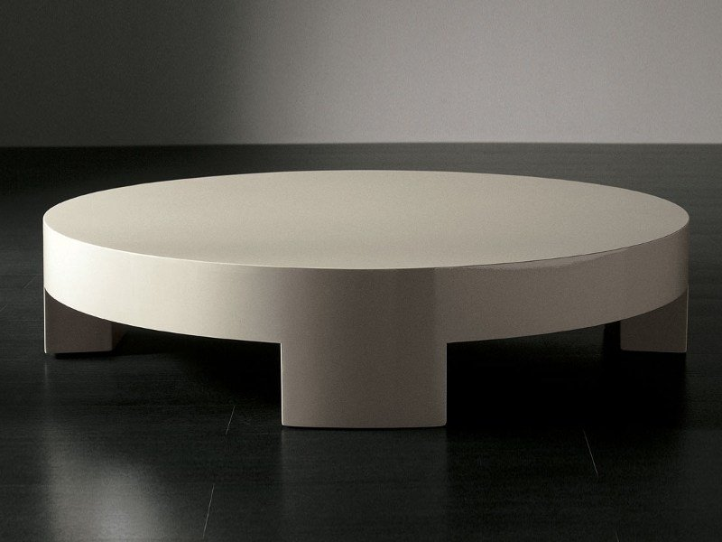 Low round coffee table SUMO | Round coffee table by Meridiani