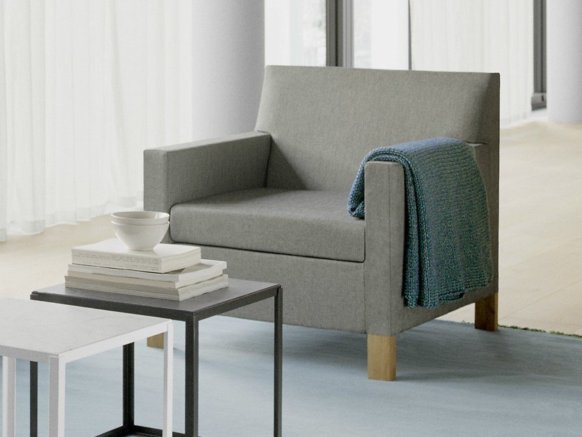 Upholstered armchair WEISSENHOF by e15