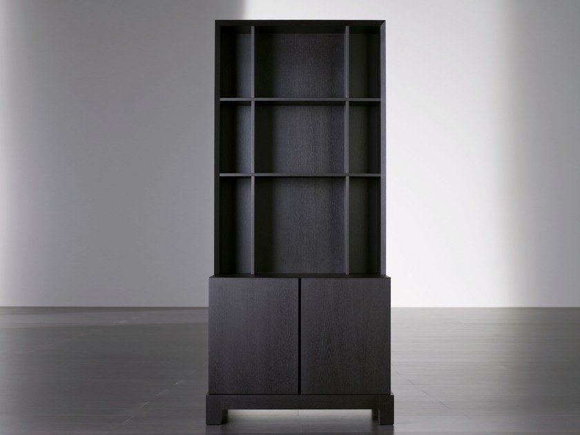 Modular wooden bookcase DOUGLAS | Bookcase by Meridiani