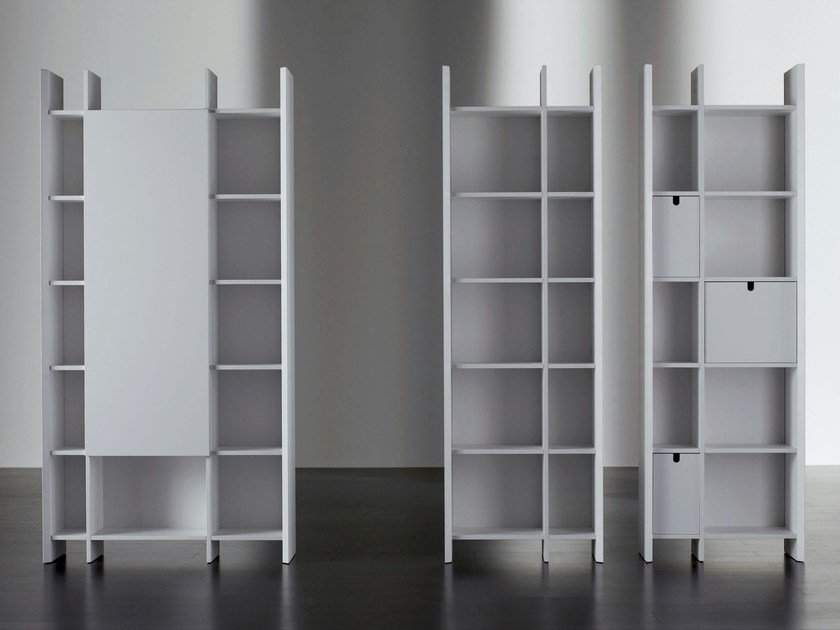 Modular wooden bookcase HARRIS | Bookcase by Meridiani