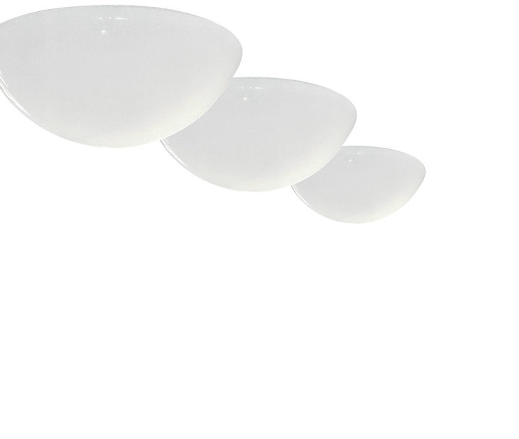 Methacrylate ceiling lamp SEMISFERA by Martinelli Luce