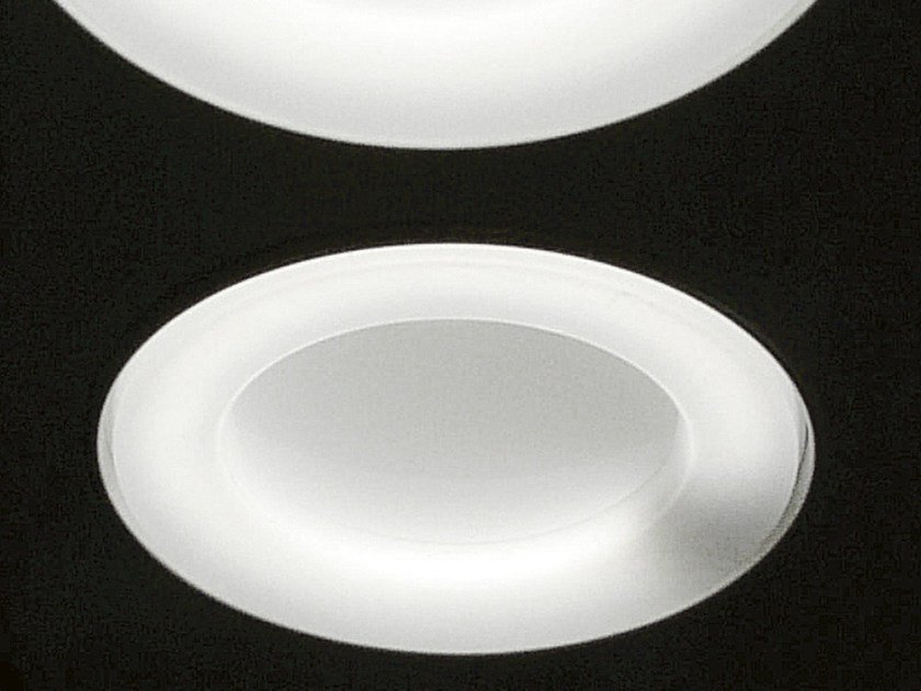 Fluorescent ceiling lamp OBLÒ by Martinelli Luce