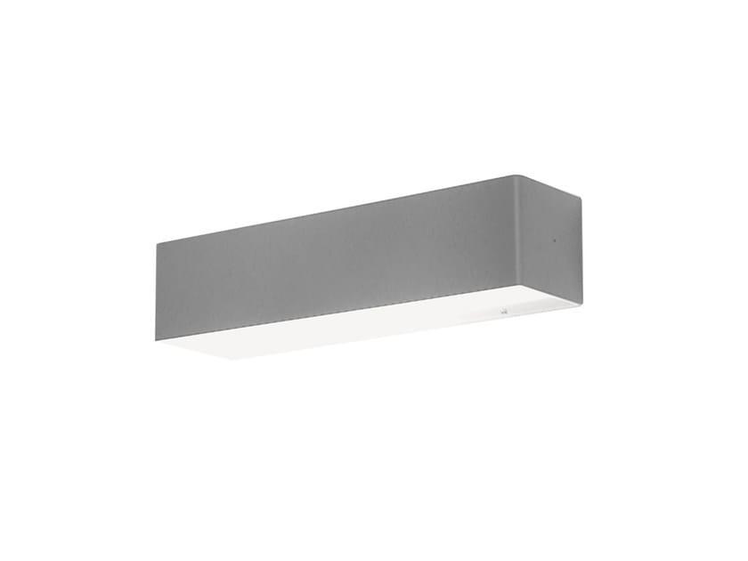 Design indirect light fluorescent metal wall light