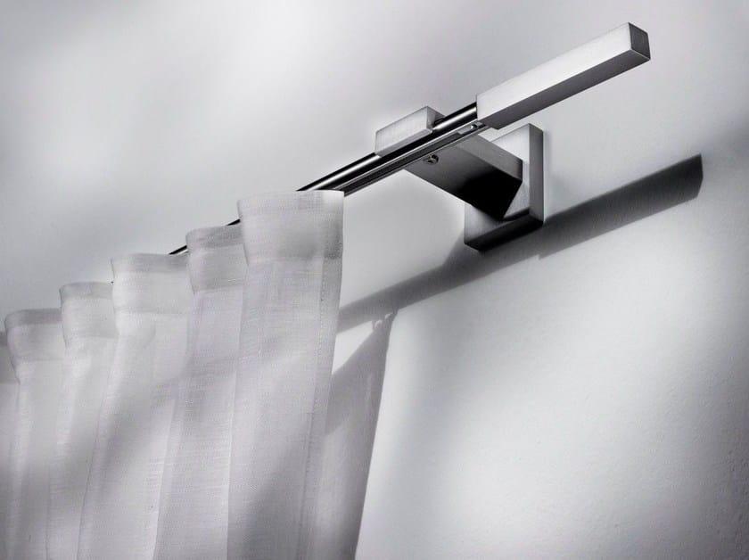 Contemporary style aluminium curtain rod ZEUS by Scaglioni