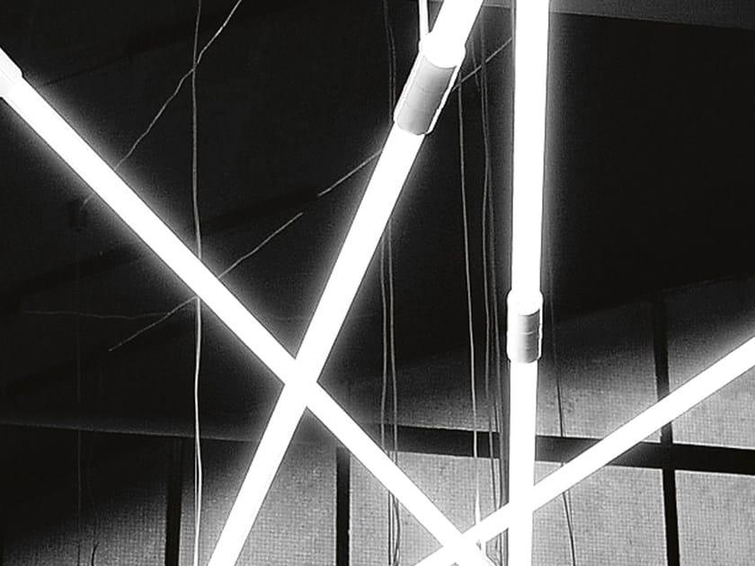 Fluorescent polycarbonate pendant lamp SHANGHAI | Fluorescent pendant lamp by Martinelli Luce