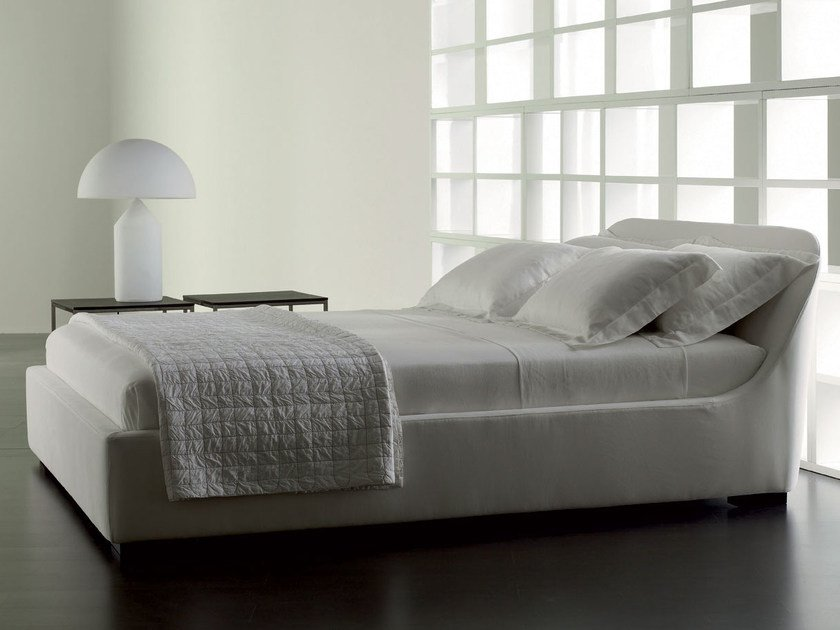 Double bed with removable cover