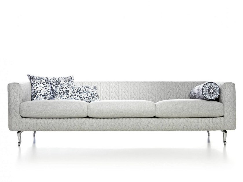 Polyester sofa DELFT GREY JUMPER by moooi