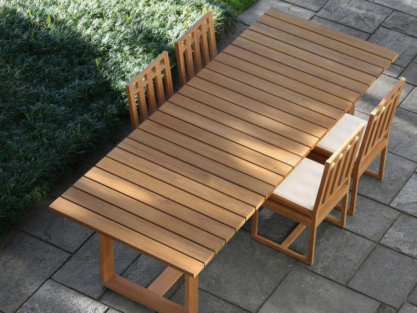 Rectangular teak garden table SQUARE | Rectangular garden table - Meridiani