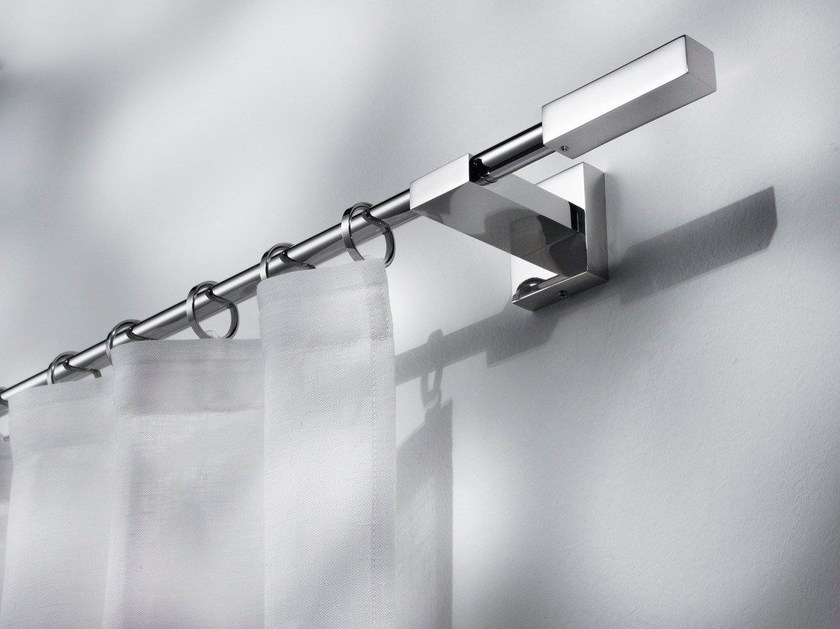 Contemporary style steel curtain rod TALASSA by Scaglioni
