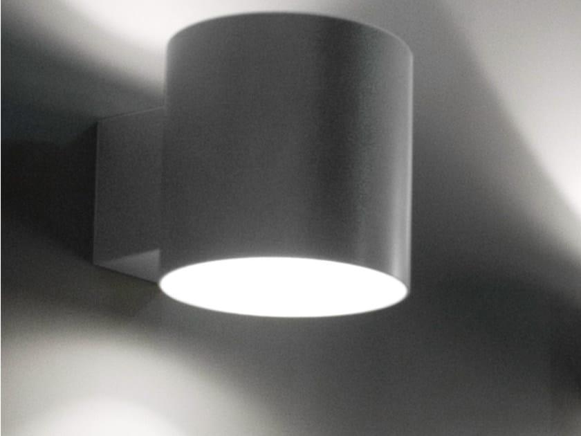 Design direct-indirect light fluorescent resin wall lamp