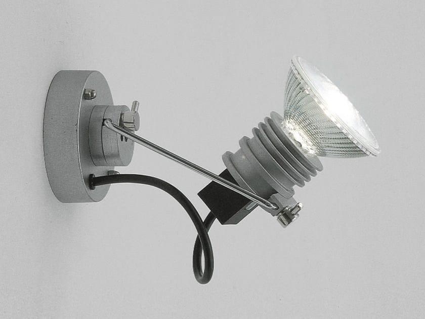 Design halogen wall-mounted adjustable aluminium spotlight