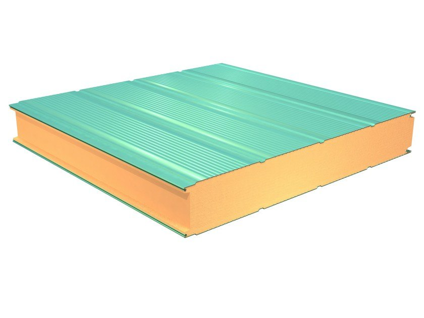 Insulated metal panel for facade