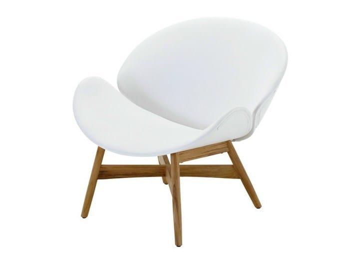 Garden armchair with armrests DANSK | Garden armchair by Gloster