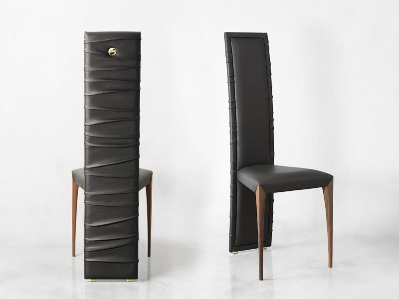 High-back leather chair IL PEZZO 7 | Chair by Il Pezzo Mancante
