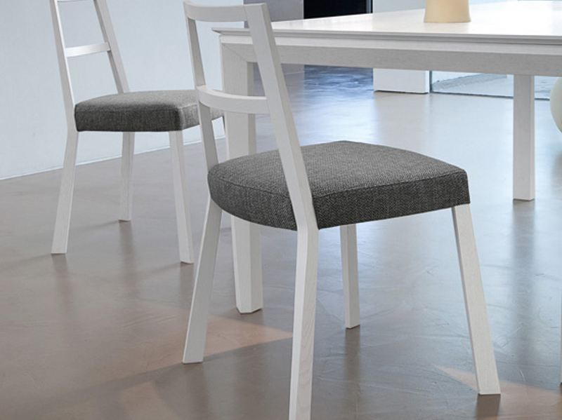Upholstered wooden chair TORQUE by DOMITALIA