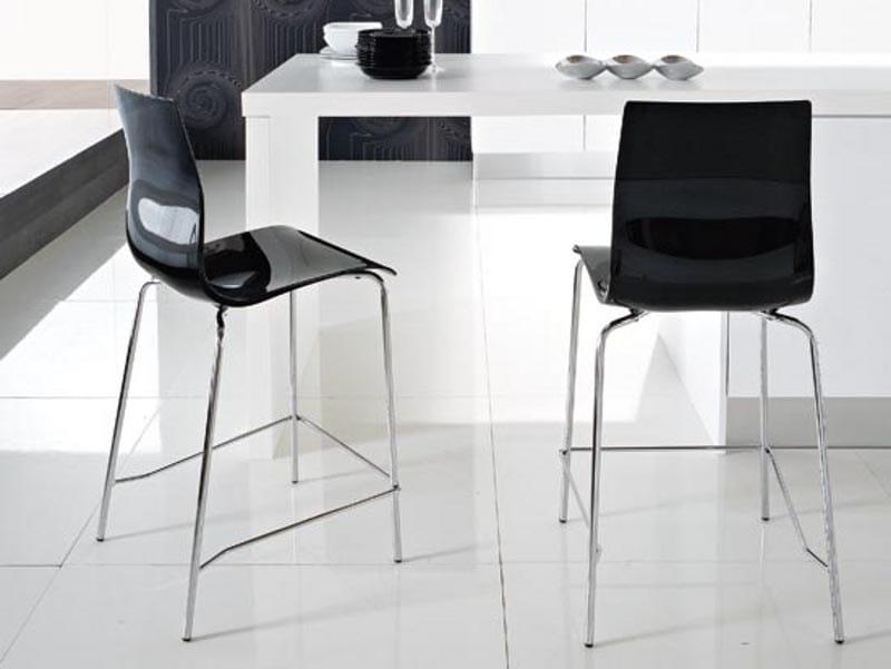 High plastic stool GEL-SG by DOMITALIA