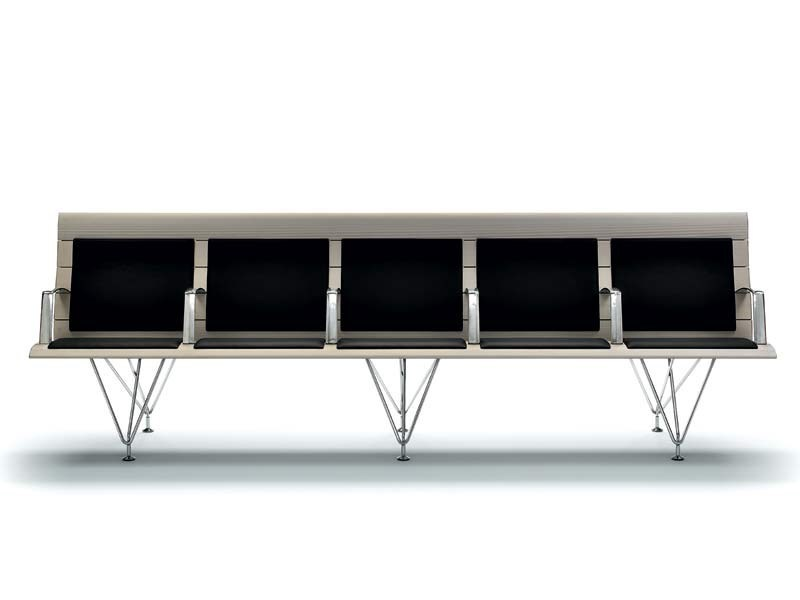 Metal chair / bench seating AIRPORT | Bench seating - MASCAGNI