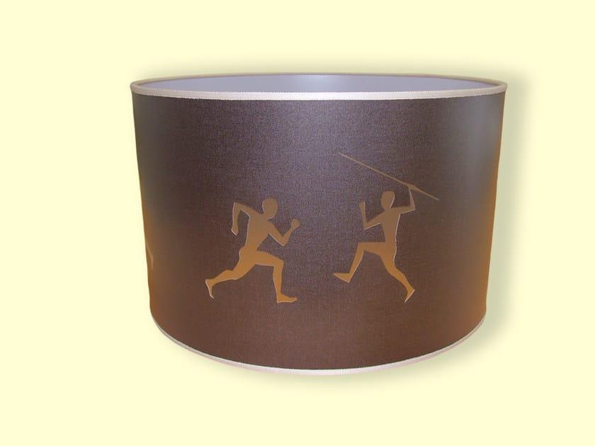 Drum shaped PVC lampshade HI-TECH   Drum shaped lampshade by Ipsilon PARALUMI