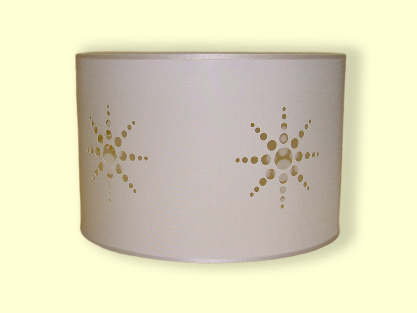 Drum shaped fabric lampshade HI-TECH | Lampshade by Ipsilon PARALUMI