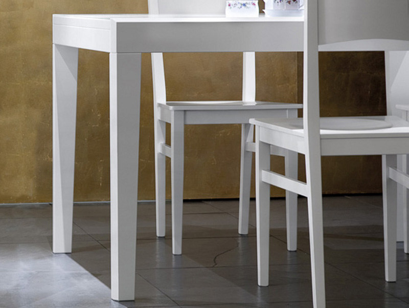 Lacquered square wooden table ASSO-90 by DOMITALIA
