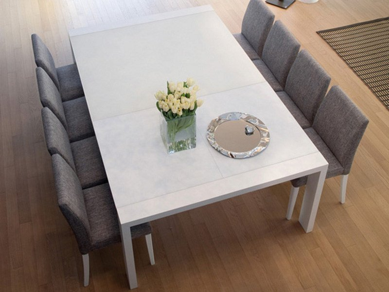 Lacquered rectangular MDF table FASHION-Q-140 by DOMITALIA