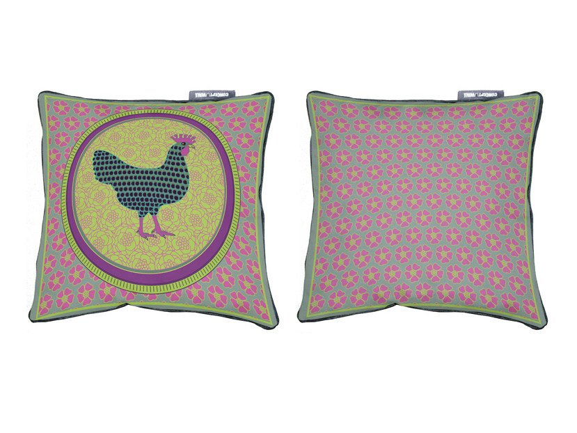 Design Square fabric cushion with removable cover