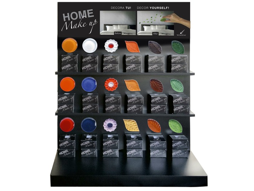 Floor-standing display unit HOME MAKE UP by VETROVIVO