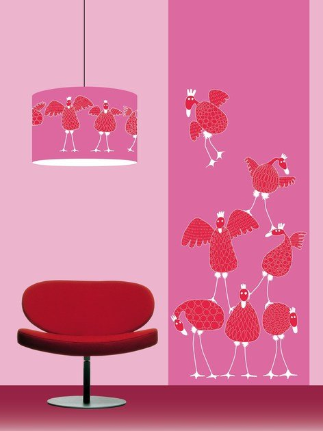 Wallpaper strip POULETTES by CONCEPTUWALL