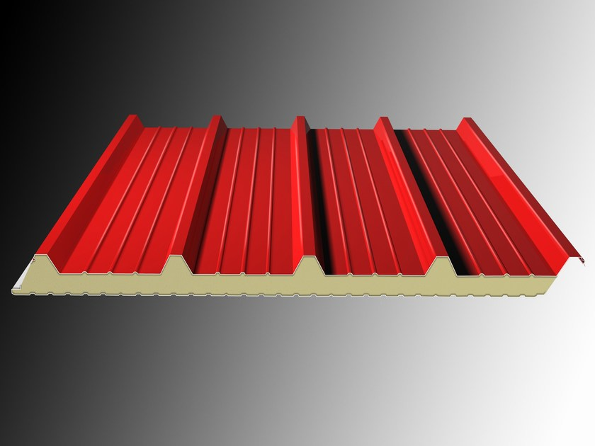 Insulated metal panel for roof DELTA 5 by Isolpack