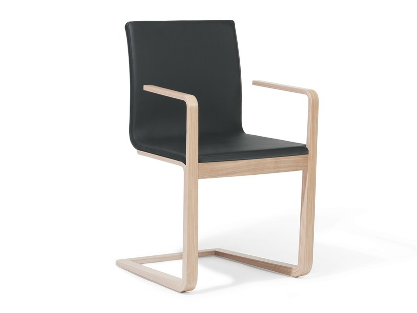 Cantilever upholstered chair MOJO   Upholstered chair by TON
