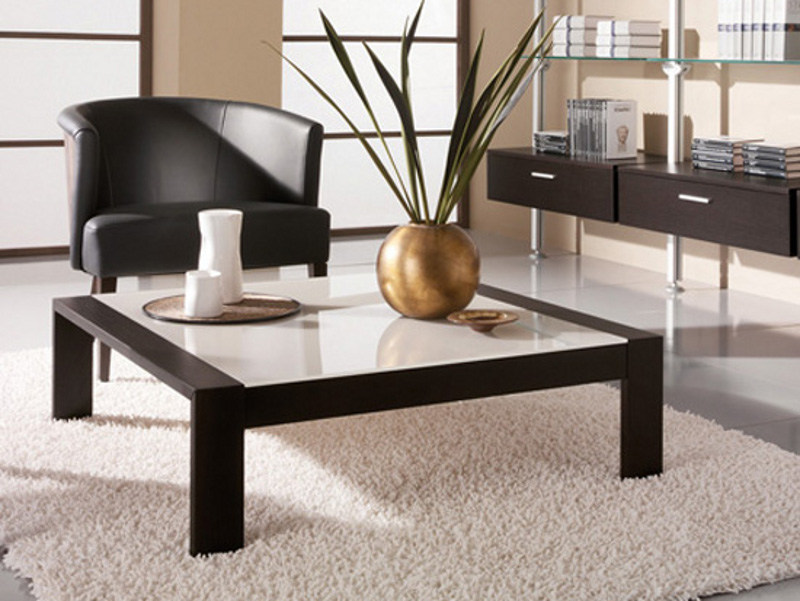 Low square wooden coffee table for living room polo 10 furnishing accessories collection Low coffee table square