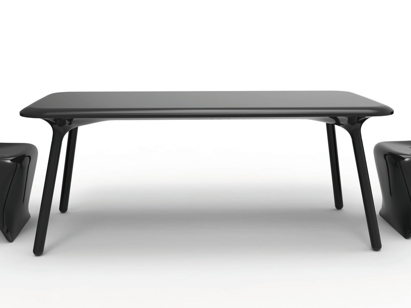 Design rectangular polyethylene table SLOO | Table by VONDOM
