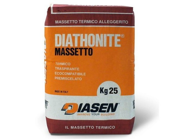 Screed heat premixed lightweight environmentally friendly DIATHONITE FOR SCREEDS - DIASEN
