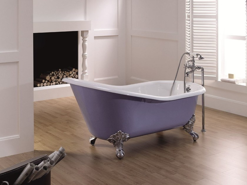 Cast iron bathtub on legs LAVANDE | Bathtub on legs - BLEU PROVENCE