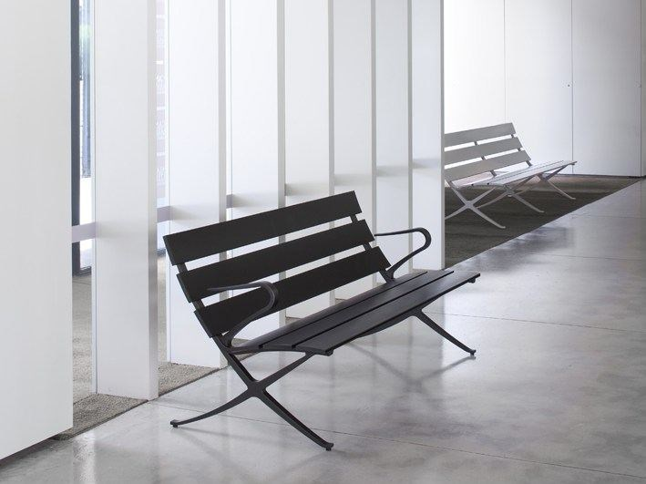 Modular Bench with armrests BENCH B | Bench with armrests by BD Barcelona Design