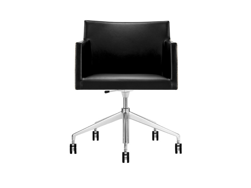 Chair with 5-spoke base with casters - MASAI - poltroncina a 5 razze girevole