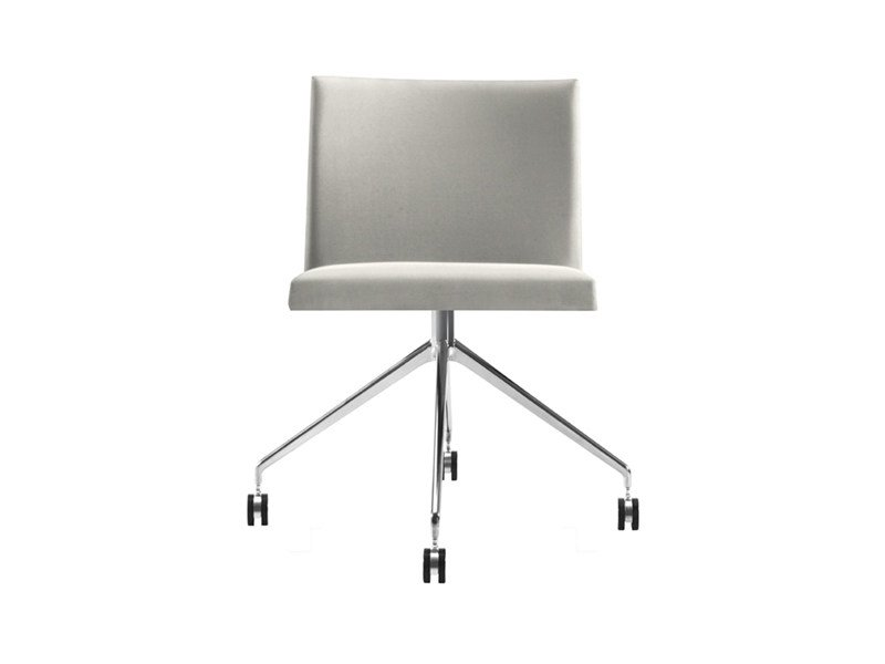 Chair with 4-spoke base with casters - MASAI - trespolo fisso