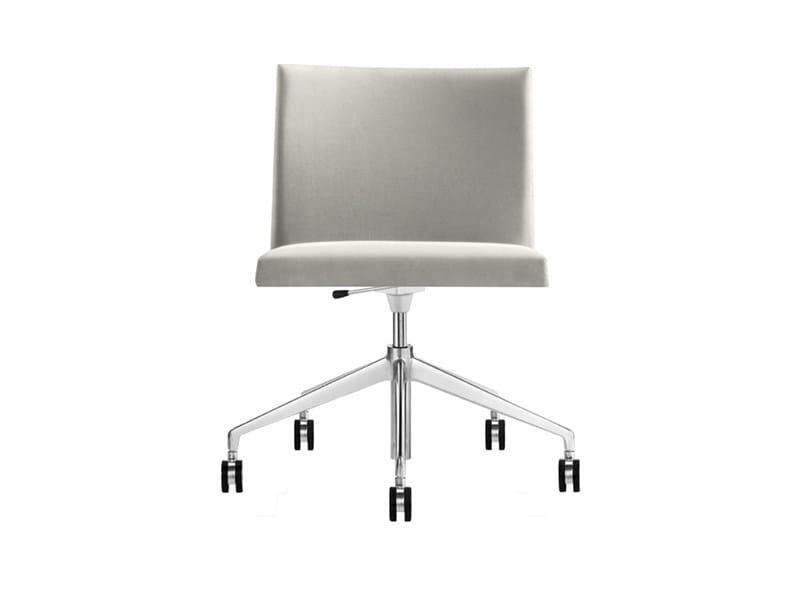 Chair with 5-spoke base with casters - MASAI - 5 razze girevole