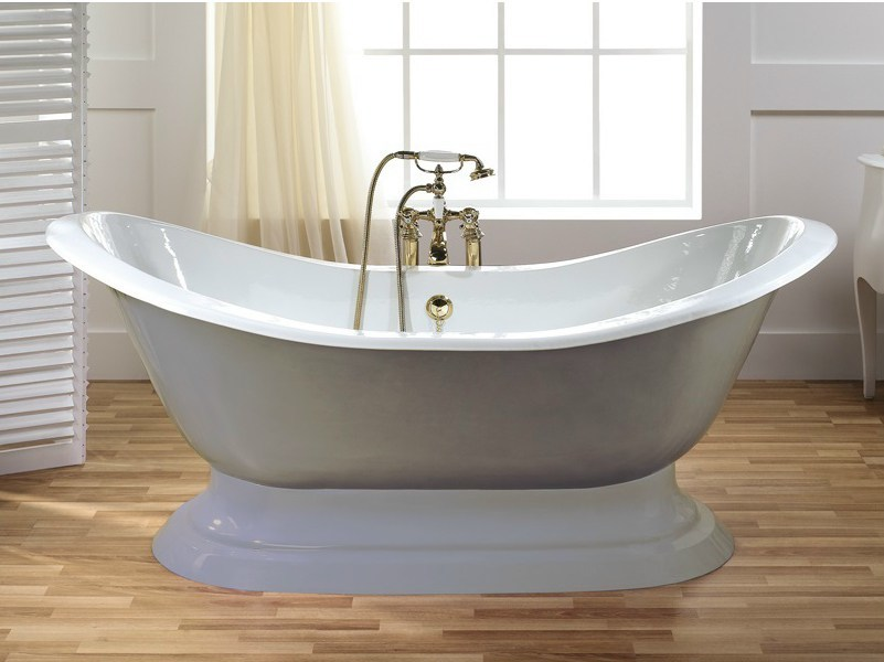 Freestanding cast iron bathtub THYM | Freestanding bathtub - BLEU PROVENCE